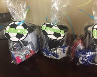 Sports favor bags, Personalized soccer party favor, basketball favor, baseball favor, football favor, sports birthday party,