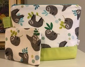Medium Slothtastic Wedgetote with matching Notions Pouch