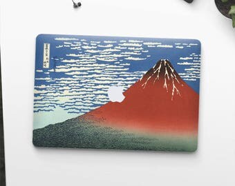 "Hokusai, ""South Wind, Clear Sky"". Macbook Pro 15 cover, Macbook Pro 13 cover, Macbook 12 cover. Macbook Pro cover. Macbook Air cover."