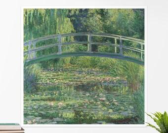 "Claude Monet, ""Waterlily Pond"". Art poster, art print, rolled canvas, art canvas, wall art, wall decor"