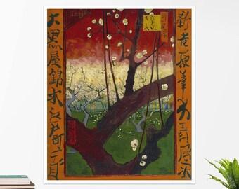 "Vincent Van Gogh, ""Blooming Plumtree"". Art poster, art print, rolled canvas, art canvas, wall art, wall decor"