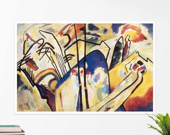 """Vasily Kandinsky, """"Composition IV"""". Art poster, art print, rolled canvas, art canvas, wall art, wall decor"""