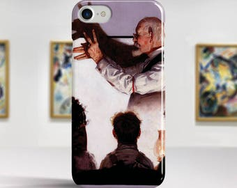 "Norman Rockwell, ""Shadow Artist"". iPhone 7 Case Art iPhone 6 Case iPhone 8 Plus Case and more. iPhone 7 TOUGH cases. Art iphone cases."
