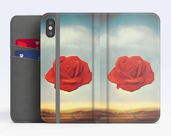 "Salvador Dali, ""Rose Meditative"". iPhone X Flip case, iPhone 8 Flip case, iPhone 7 Flip case, iPhone 6 Flip case. Samsung Flip cases."