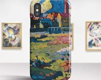 "Vasily Kandinsky, ""Munich-Schwabing..."".iPhone X Case Art iPhone 8 Case iPhone 7 Plus Case and more. iPhone X TOUGH cases. Art iphone cases."