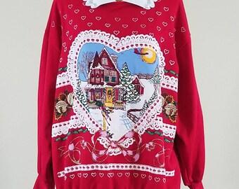 Ugly Christmas Sweater/Tacky Christmas Sweatshirt - size 3XL #319