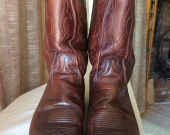 Men's vintage Dan Post leather cowboy boots 10.5 E