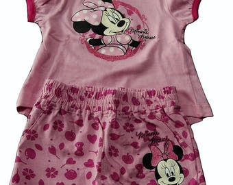 Complete 12 months (80 cm) short pink baby Minnie