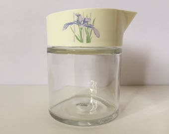 Corning Ware SHADOW IRIS Syrup Dispenser or Creamer by Gemco - 8 Ounce Capacity - Corningware Serving Container Pyrex