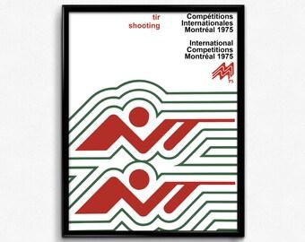 Vintage  Shooting / Tir Poster - Montreal 1975