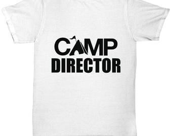 Camp Director Tee Shirt- Cool Tee Shirt Graphic Design
