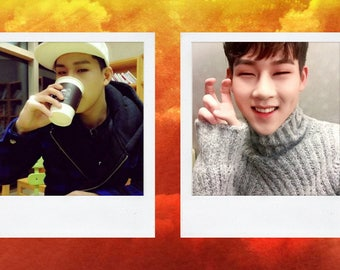 MONSTA X Jooheon polaroid boyfriend Material