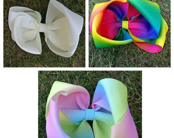 Large handmade twisted double bow
