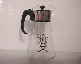 Vintage Pyrex Coffee Pot - Carafe - Percolator - Coffe Maker ~ Water Jug 1960s