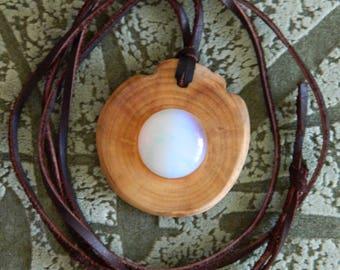 Strong Cedar talisman, reinforced with Moonstone! High curative and protective properties! Wild Siberian cedar! Natural materials! Handmade!