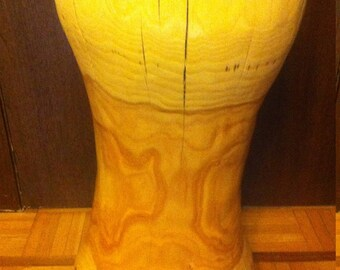 tree wood stump side table carved