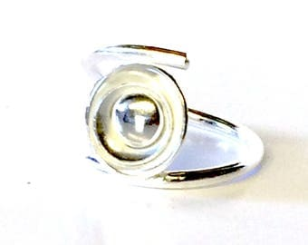 Contemporary 'Eclipse' Adjustable Ring