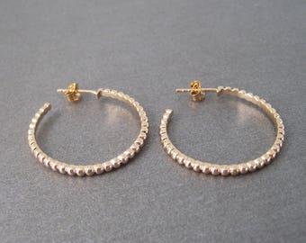 Hoop earrings in plated gold 700/000 diam. 2.8 cm