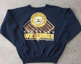 1992 Michigan Wolverines Pullover