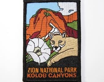 Official Zion National Park Souvenir Patch Utah Scrapbooking FREE SHIPPING