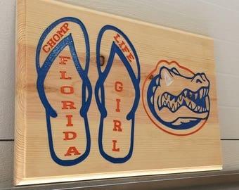 Florida Gator Wall Art gator chomp | etsy