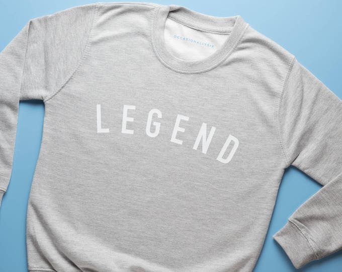 Featured listing image: LEGEND - Kids grey sweatshirt