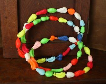 Vintage Fruit Shaped Pop Beads