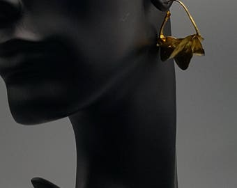 Small Fula Gold Twist Earrings