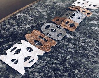 "6.5"" Handcut Metallic/Pearlescent Paper Garland"