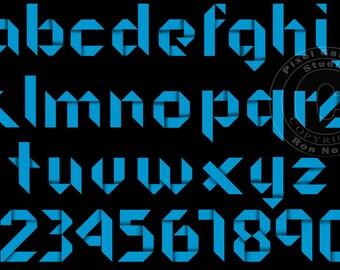 Paper Style Font Clip-art . Alphabet and Numerals.  PNG Clipart Clip art
