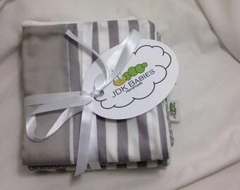 3 Pack Polka Dot and Stripes Baby Washcloths