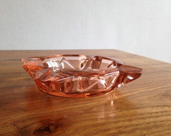 Pretty pink glass - made in France - vintage ashtray