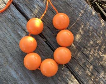 Orange Chunky Necklace