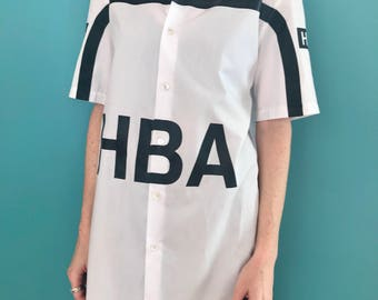 HBA oxford shirt. Unisex. Hood by air top. Mens clothing. Oxford shirt. Vintage shirt. Limited edition shirt.