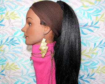 "READY TO SHIP //Synthetic handmade crochet ponytail ""Sleek n Sexy"" Ponytail"""
