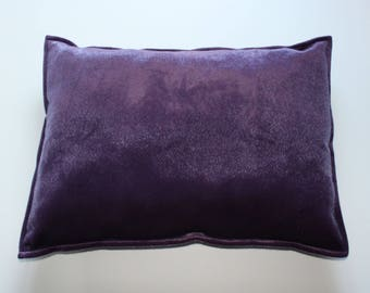 Violet huge faux fur pillow cover 20x28 inches