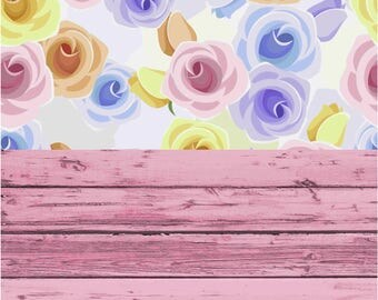 160cmx300cm  Photography Backdrop - Flowers, Roses