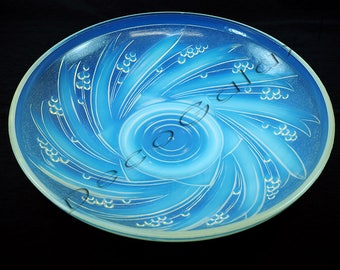 French Art Deco Opalescent Glass Bowl