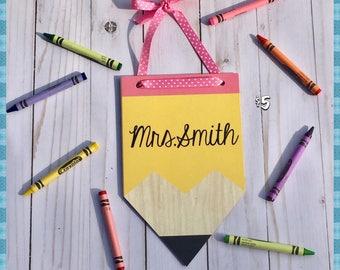 Personalized Pencil Name Plaque