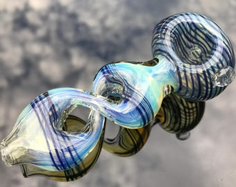 Color Changing Glass Pipe / Glass Smoking Pipe KS19 / Glass Pipes / Glass Spoon Pipe / Smoking Bowl / Glass Smoking Bowl / Tobacco Pipe 19