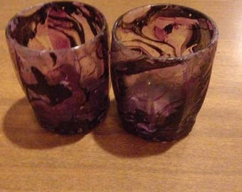 Purple Marbled Shot Glasses