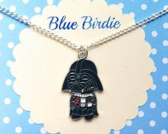 Cute Darth Vader necklace Darth Vader jewelry Darth Vader jewellery enamel Darth Vader necklace star wars gifts Darth Vader gifts