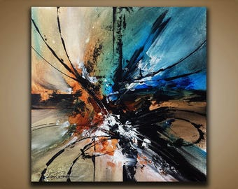 Abstract painting / Wall art / Contemporary abstract / Modern art / Youtube painting / Ray Grimes / 12x12