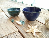 Wheel thrown nesting bowl set, wheel thrown pottery, stoneware bowls, sauce bowls, pottery espresso cups, nesting bowls, set of 2 bowls