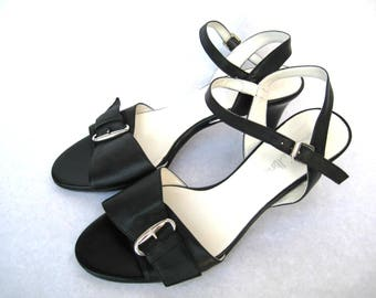 Vintage Jane Skilton Women's Leather Slingbacks Size 9us/6,5uk/40eu