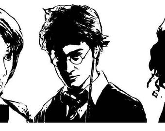 Harry Potter Trio Decal
