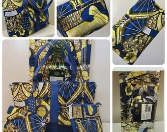 vlisco wax hollandais fabric collections (4 pieces)