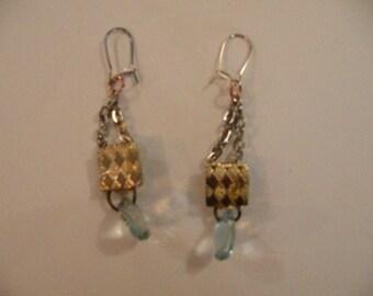 Gold&Green earrings