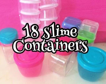 18 cutie patootie slime containers