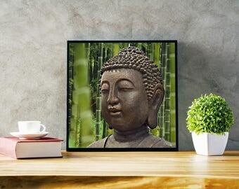 Stunning image 'Southern' Budha in front of Bamboo forest